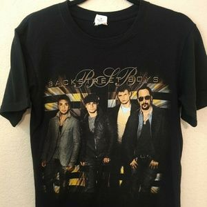 Vtg Backstreet Boys 2010 Tour Pop Band Tshirt - S